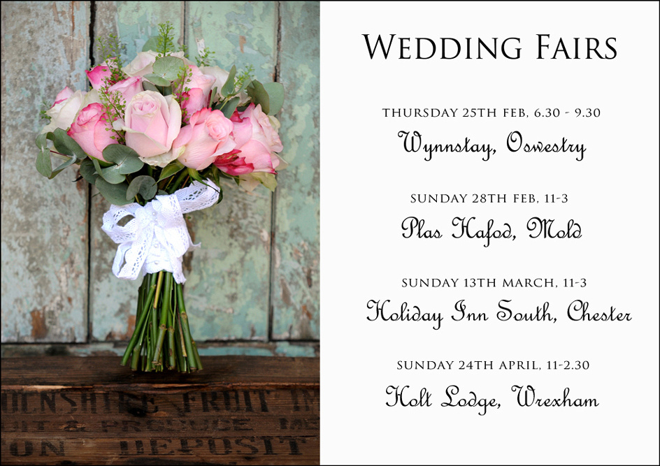 Wedding Fairs in Oswestry, Mold, Chester & Wrexham