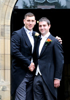 Groom & Best Man at Gresford Church & Ruthin Castle wedding