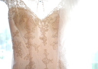 Bride's dress for her Ruthin Castle wedding