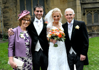 Group shot at Gresford Church & Ruthin Castle wedding