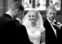 Ceremony at Gresford Church & Ruthin Castle wedding