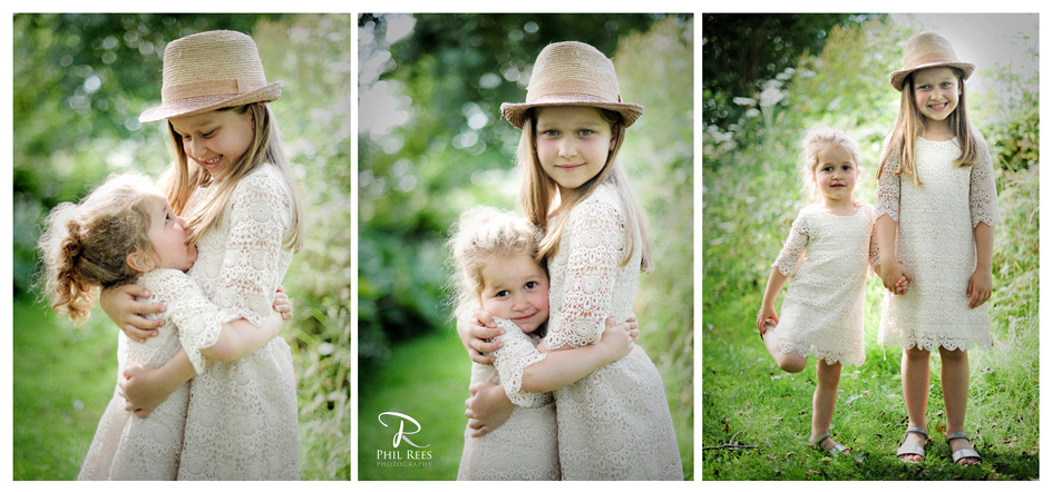 A family portrait shoot at the Plassey near Wrexham