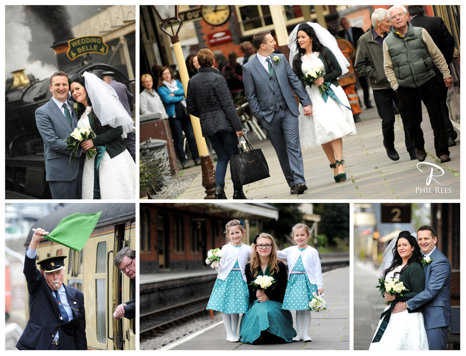 Llangollen Railway Wedding Photography for Emma & Chris by North Wales Wedding Photographer Phil Rees