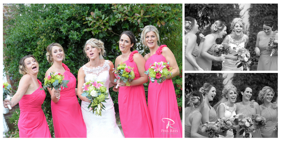 Sarah-&-Bridesmaids-at-Rossett-Hall